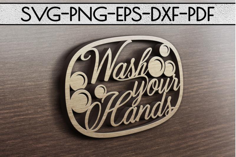 wash-your-hands-papercut-template-bathroom-decor-svg-pdf