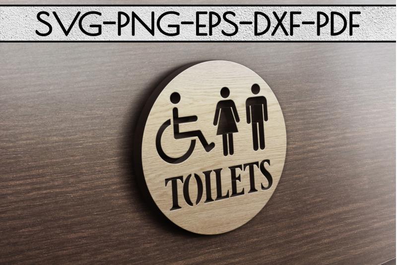 toilets-sign-papercut-template-toilet-decor-svg-pdf-dxf
