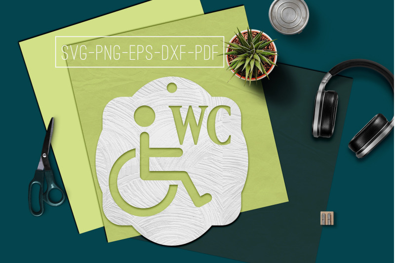 disabled-wc-sign-papercut-template-toilet-decor-svg-pdf