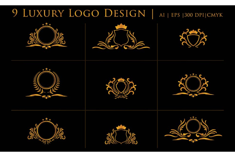luxury-cool-logos-design-template