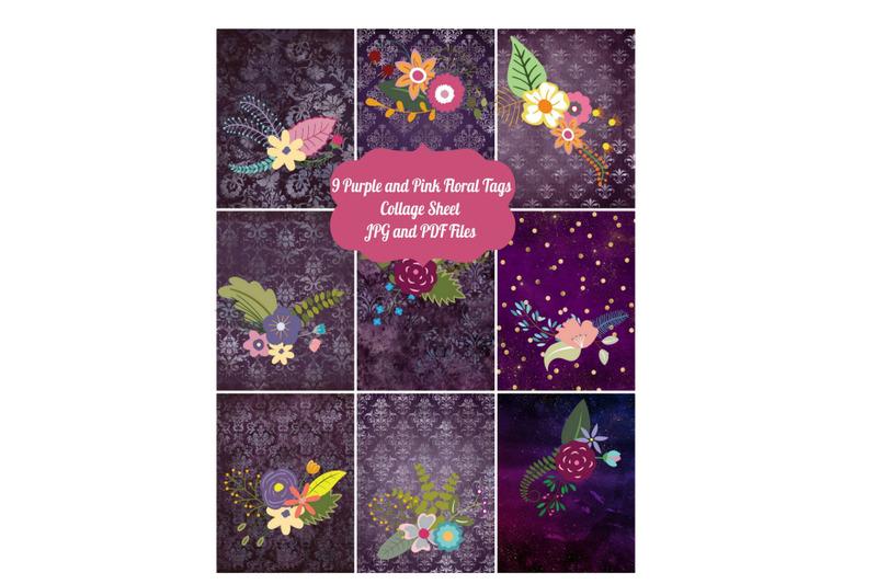 9-vintage-atc-cards-ephemera-tags-with-floral-design