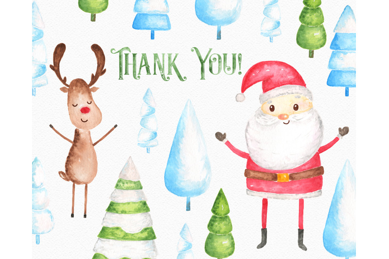 christmas-watercolor-clipart-set