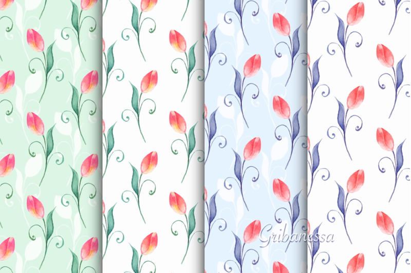 spring-fied-watercolor-patterns