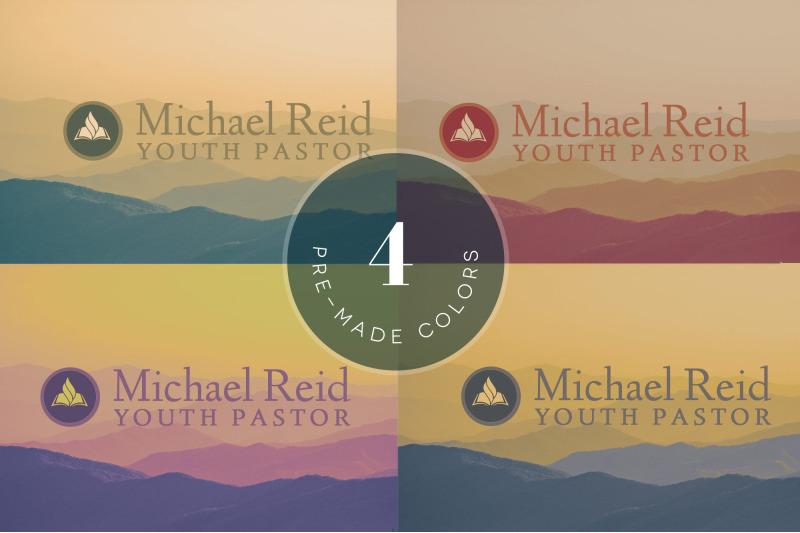 church-business-card-photoshop