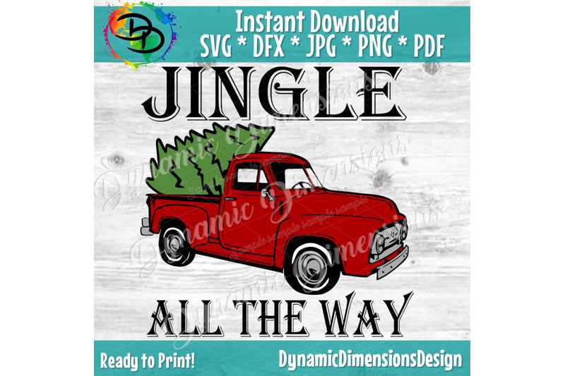 jingle-all-the-way-svg-christmas-svg-red-truck-svg-vintage-truck