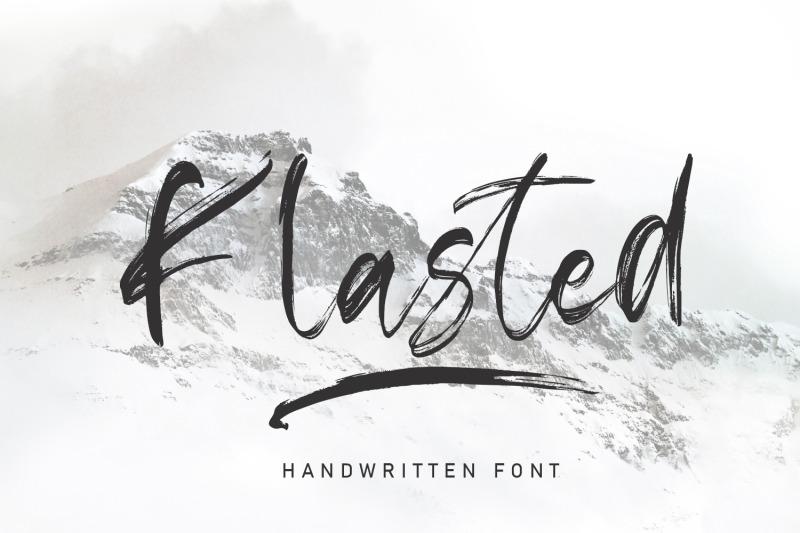 klasted-brush-handwritten-font