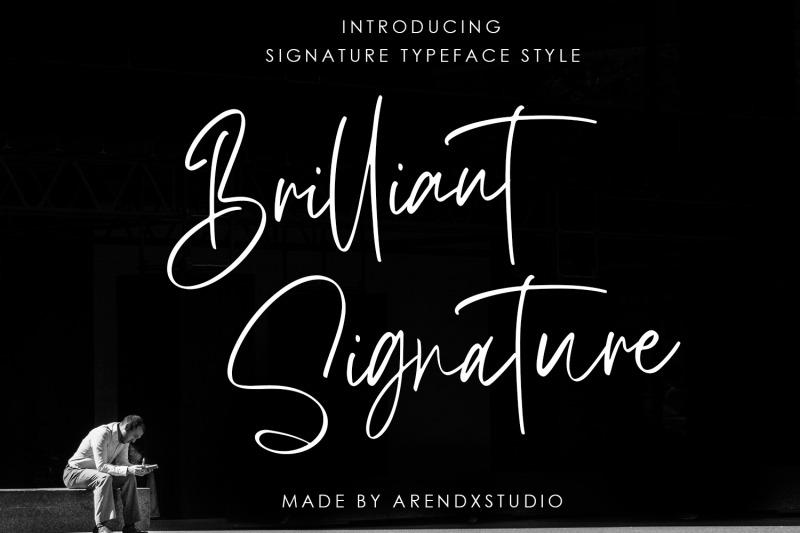 brilliant-signature-logotype-font