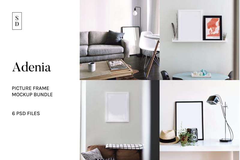 Free Frame Mockup Bundle - Adenia (PSD Mockups)
