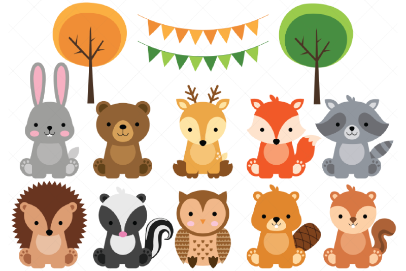 woodland-baby-animals-clipart