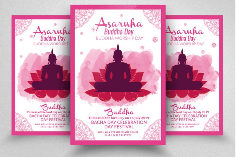 asarnha-buddha-event-flyer-poster