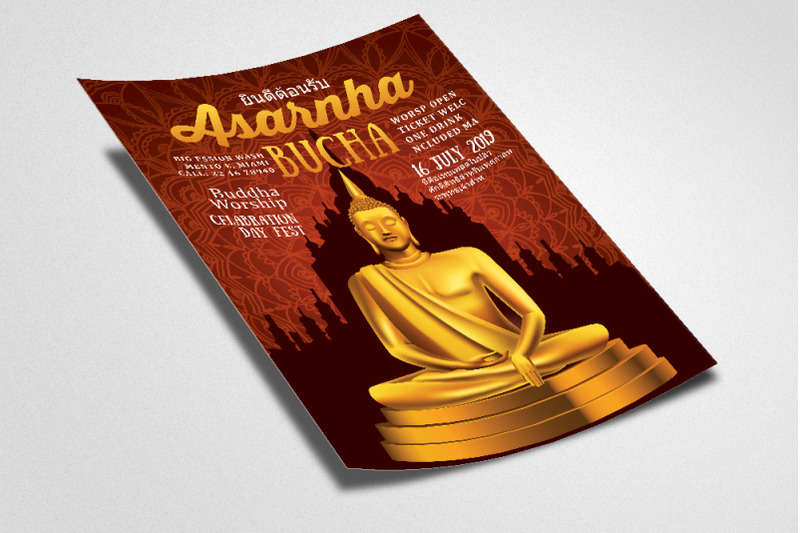 asarnha-bucha-worship-flyer-poster