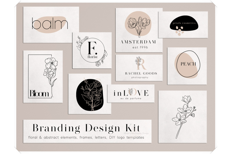 branding-design-kit-diy-logo-floral