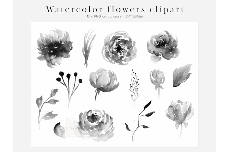 watercolor-floral-design-bundle-boho-flowers-clipart