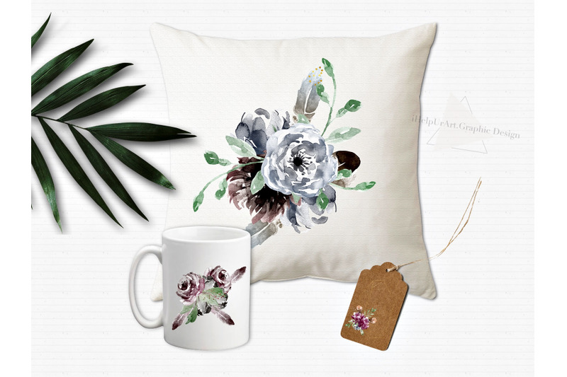 watercolor-boho-flowers-design-bundle