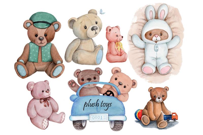 watercolor-plush-toys