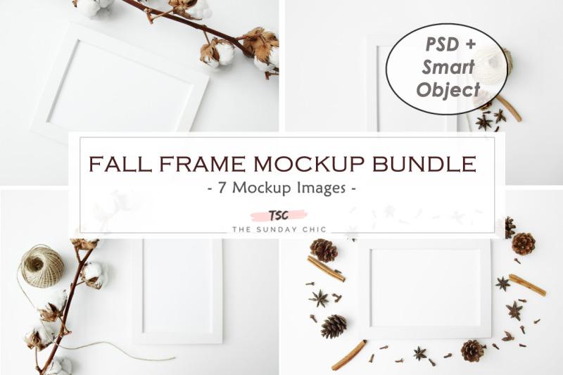 Free Fall Frame Mockup Bundle (PSD Mockups)
