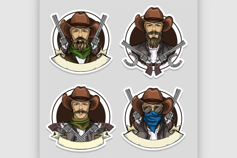 hand-drawn-sketch-cowboy-set-2