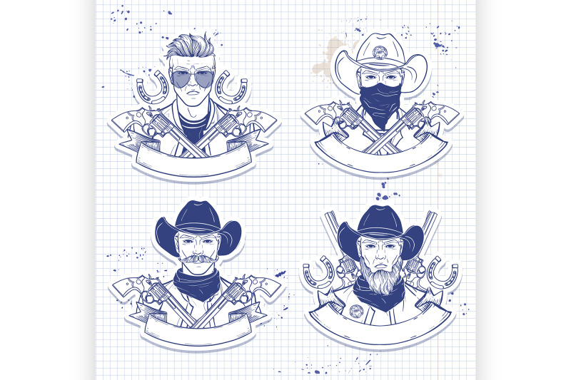 hand-drawn-sketch-cowboy-set-5