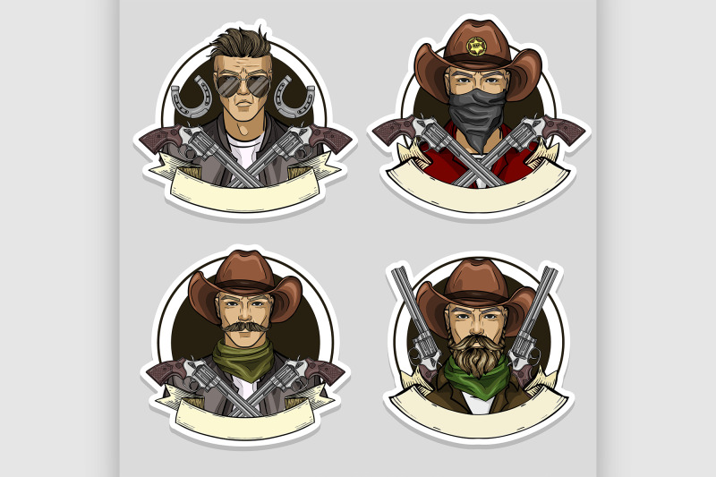 hand-drawn-sketch-cowboy-set-6