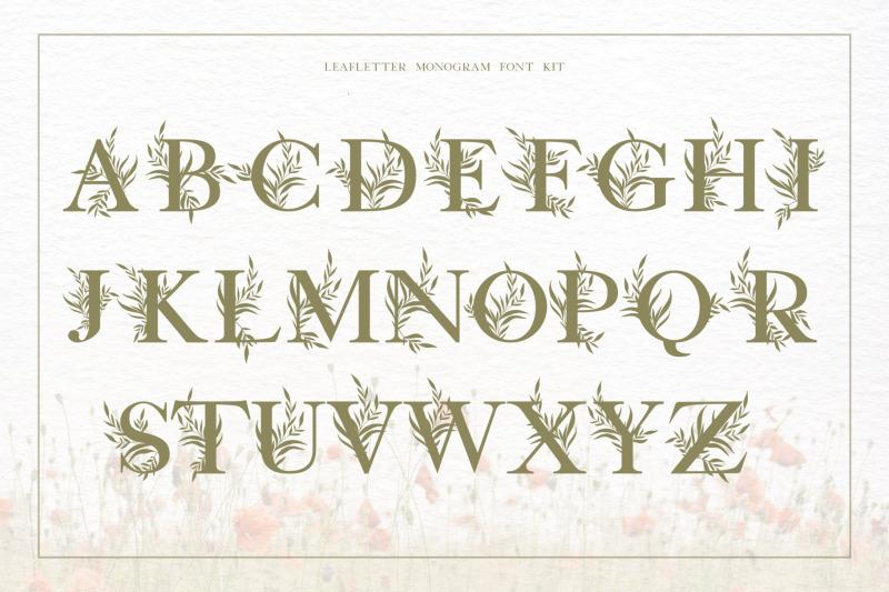 leafletter-monogram-font-kit