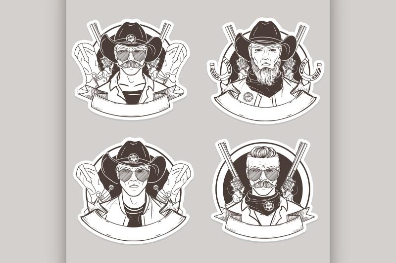 hand-drawn-sketch-cowboy-set
