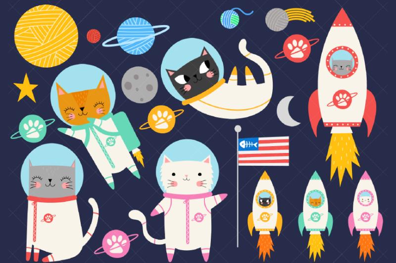 space-cat-clipart-astronaut-kittens