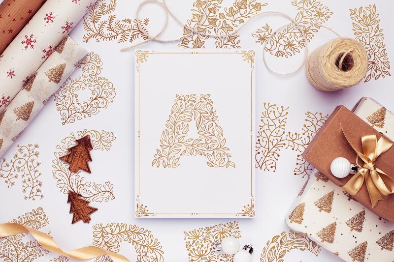 winter-flowers-svg-alphabet