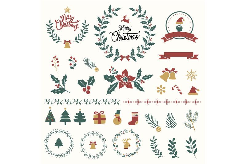 set-of-merry-christmas-greeting