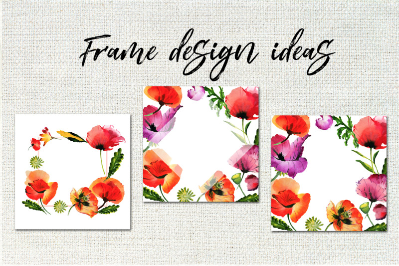 poppy-flowers-png-watercolor-set