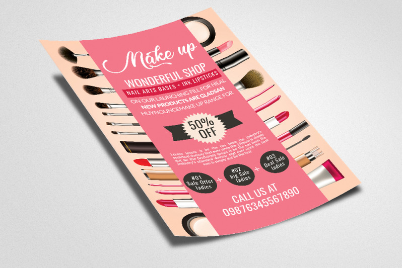 cosmetics-product-ads-flyer-poster