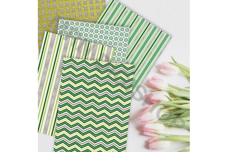 emerald-green-digital-paper-pack