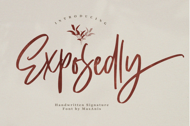 exposedly-signature-font