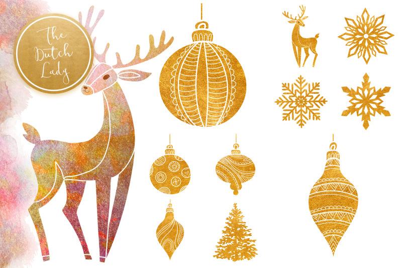 christmas-ornament-clipart-set