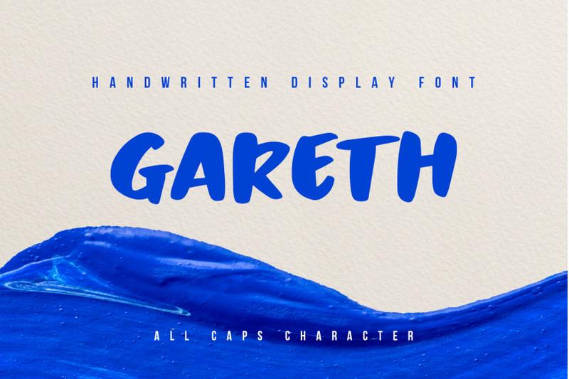 gareth-handwritten-display-font