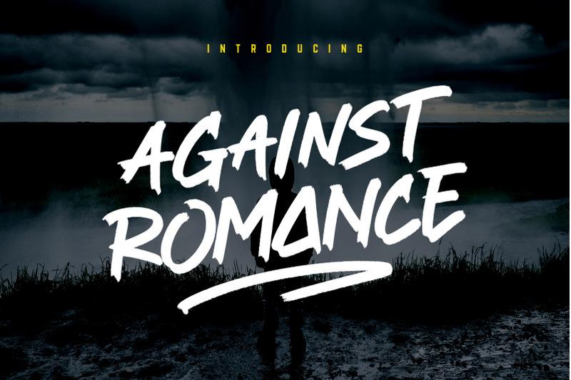 against-romance-brush-font