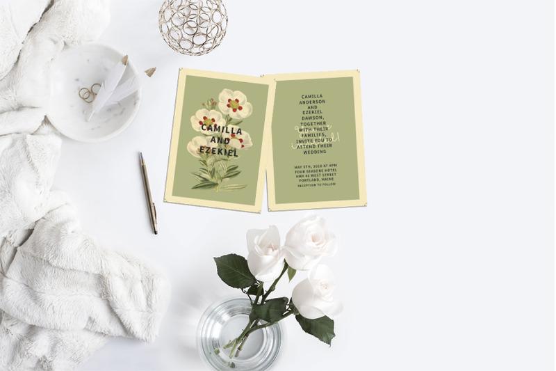 floral-wedding-invitation