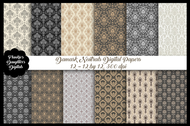 damask-neutral-colors-digital-papers
