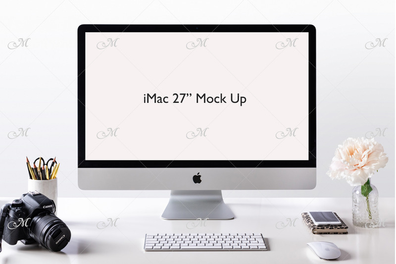 Free Apple iMac Mock-up. PSD + JPEG (PSD Mockups)