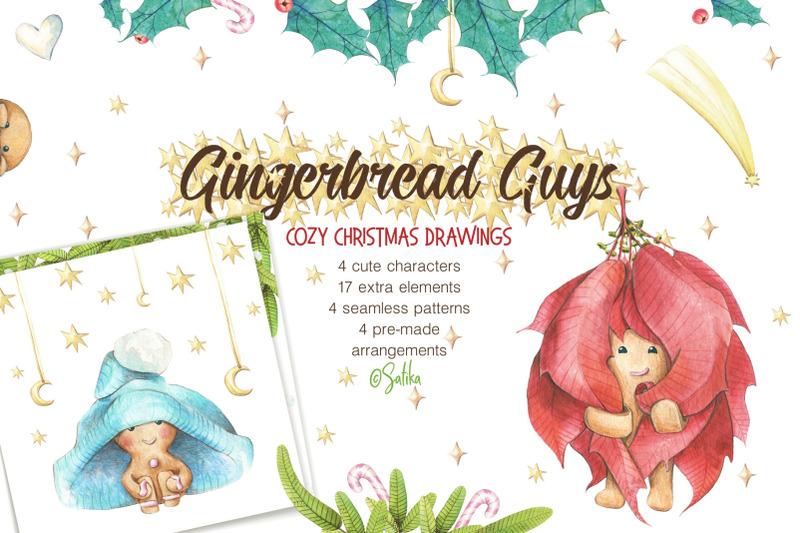 winter-watercolor-gingerbread-guys