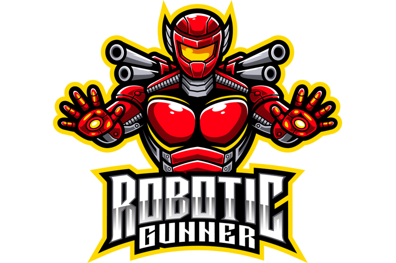 robotic-gunner-esport-mascot-logo-design