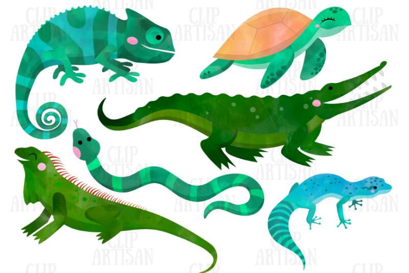 watercolor-reptiles-clipart