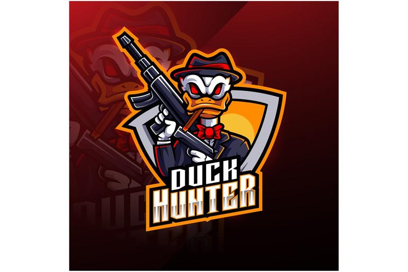 duck-hunter-esport-mascot-logo-design