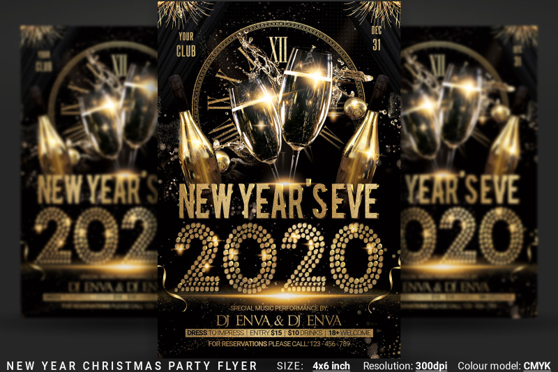 new-years-eve-christmas-party-flyer