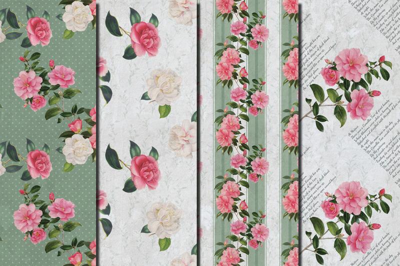 vintage-camellia-seamless-patterns