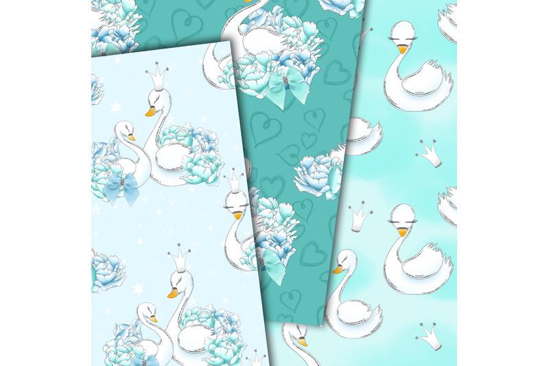 swans-in-blue