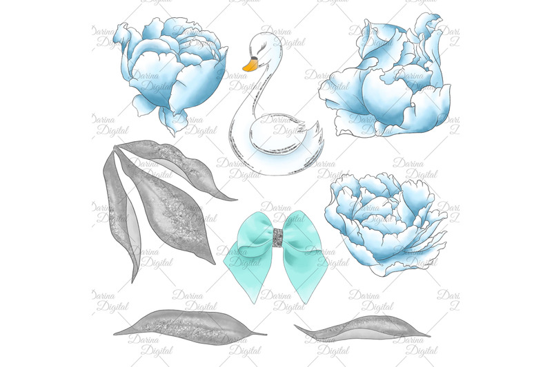 swans-in-blue-clipart