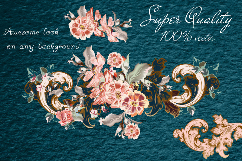 collection-of-vector-vintage-flourishes-with-flowers-vol-3