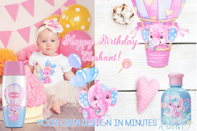 birthday-baby-elephants-png-watercolor-clipart-for-girls-download-hot