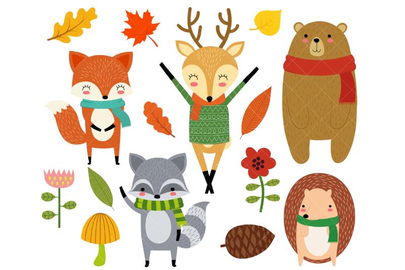 woodland-animals-clip-art