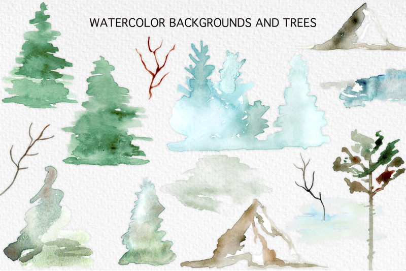 winter-forest-watercolor-graphic-set